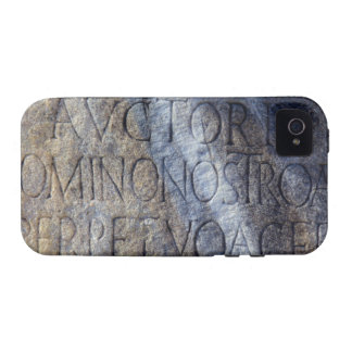 Roman typography at the Forum, Rome, Italy Case-Mate iPhone 4 Covers