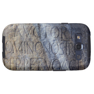 Roman typography at the Forum, Rome, Italy Samsung Galaxy SIII Case