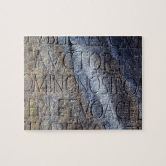Roman typography at the Forum, Rome, Italy Jigsaw Puzzle