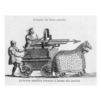 Roman war machine for firing javelins postcard