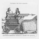 Roman war machine for firing javelins square sticker
