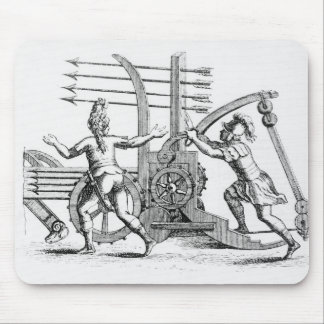 Roman war machine for firing spears mouse pad