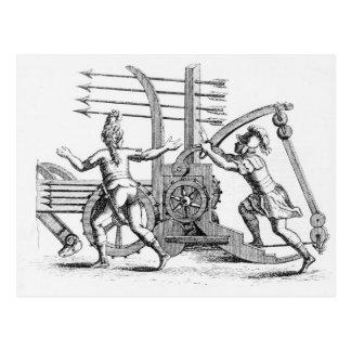 Roman war machine for firing spears postcard
