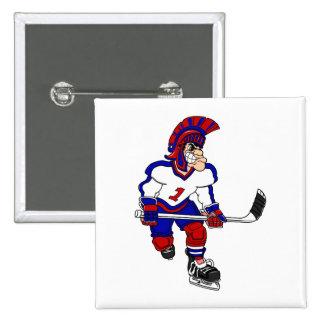 Roman Warior Hockey Player Pins