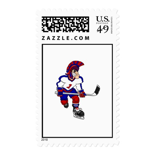 Roman Warior Hockey Player Postage
