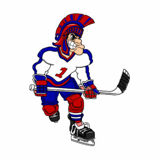 Roman Warior Hockey Player Statuette