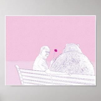 Romance 11x8.5 del grisáceo impresiones