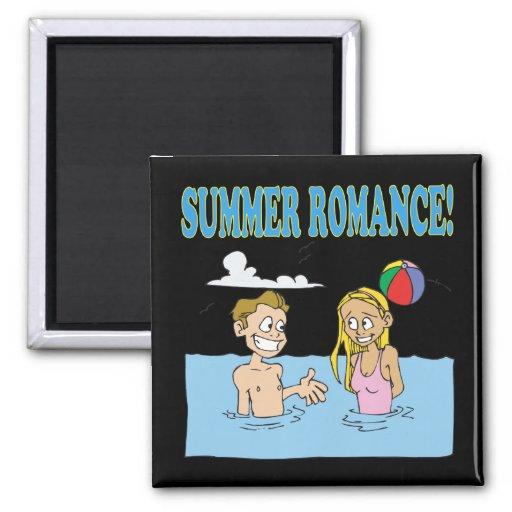 Romance 2 del verano imán cuadrado