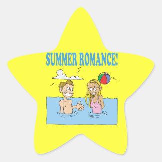 Romance 2 del verano pegatina en forma de estrella