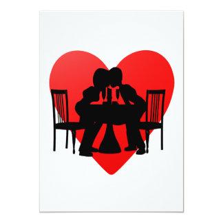 Romance 5x7 Paper Invitation Card