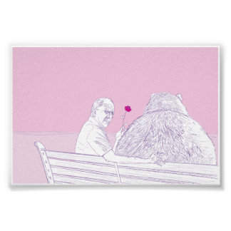 Romance 6x4 del grisáceo posters