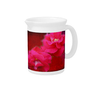 Romance and Red Roses Beverage Pitcher