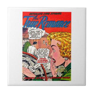 Romance Art - Vintage Romantic Comic Art Ceramic Tile
