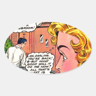 Romance Art - Vintage Romantic Comic Art Sticker