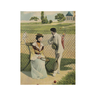 Romance at the tennis court part 1 wood poster