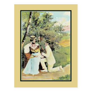 Romance at the tennis court part 2 postcard