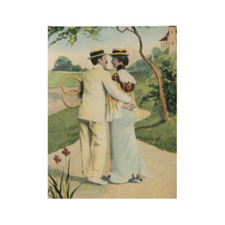 Romance at the tennis court part 3 wood poster
