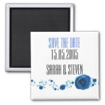 Romance Blue Roses Save the date Refrigerator Magnets