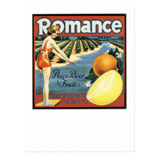 Romance Brand Peace River Fruit Postcard