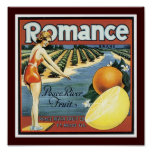 Romance Brand Peace River Fruit Poster