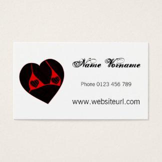 romance business card