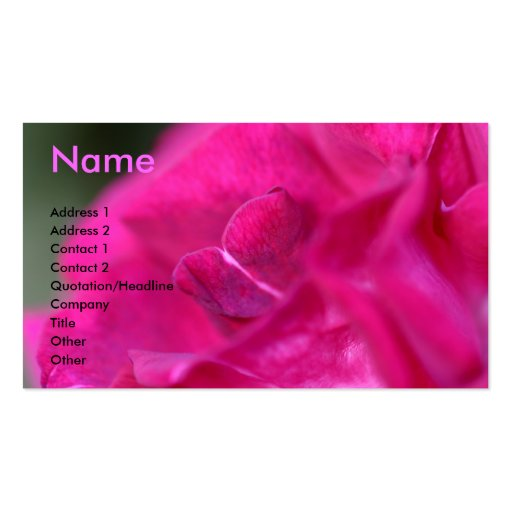 Romance Double-Sided Standard Business Cards (Pack Of 100)