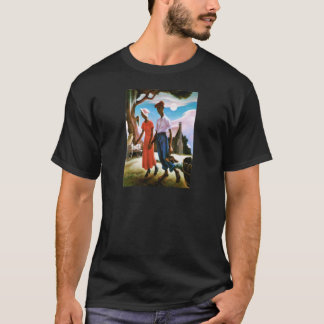 Romance by Thomas Hart Benton T-Shirt