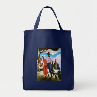 Romance by Thomas Hart Benton Tote Bag
