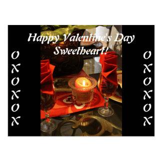Romance Candlelight Postcard