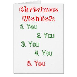 romance christmas card