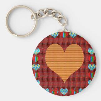 Romance colorido del amor de los símbolos de llavero redondo tipo chapa