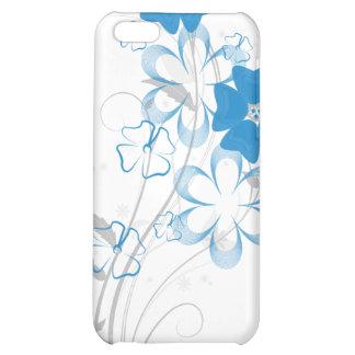 Romance de florecimiento en iPhone4 floral azul