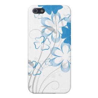 Romance de florecimiento en iPhone4 floral azul iPhone 5 Cobertura