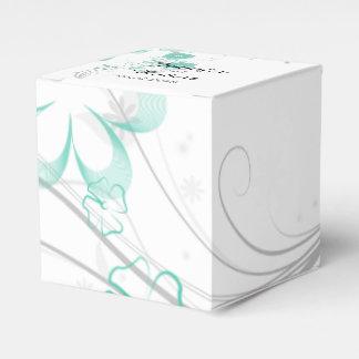 Romance de florecimiento en la aguamarina que casa cajas para detalles de boda