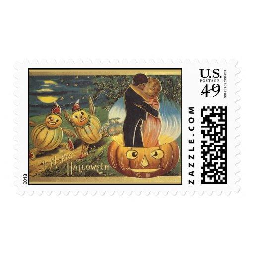 Romance de Halloween del vintage del KRW Sellos Postales