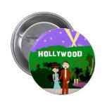 Romance de Hollywood Pin Redondo De 2 Pulgadas