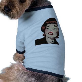 Romance de la angustia del vintage camisetas de mascota