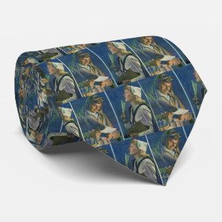 Romance de la distancia del piloto y de la corbata personalizada