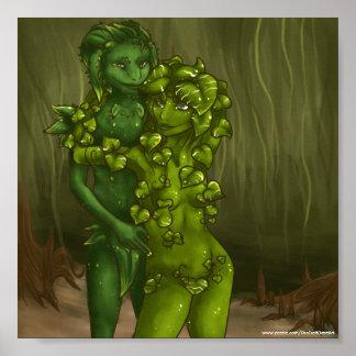 Romance de la planta y del Pothos de serpiente Impresiones