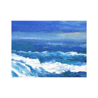 Romance de las ondas del mar del paisaje marino impresion de lienzo