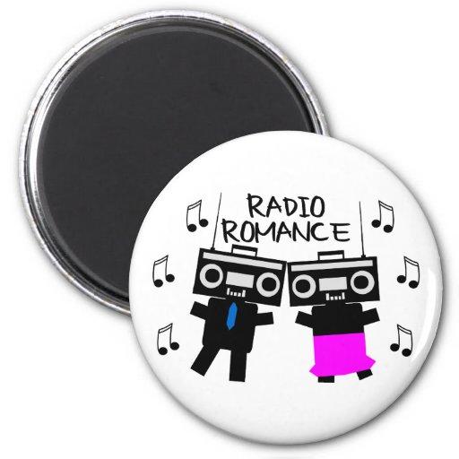 Romance de radio imanes para frigoríficos