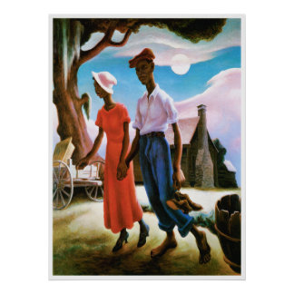 Romance de Thomas Hart Benton Poster