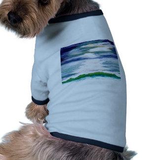 Romance decoración del arte del mar - océano camisas de perritos