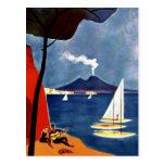 Romance del amor del viaje de Napoli del vintage Postales