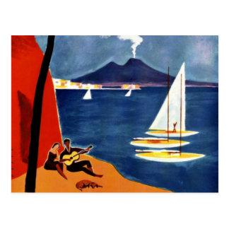 Romance del amor del viaje de Napoli del vintage Tarjetas Postales