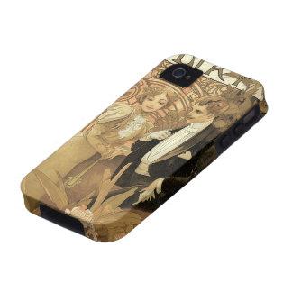 Romance del amor del vintage arte Nouveau Alfons Case-Mate iPhone 4 Carcasa