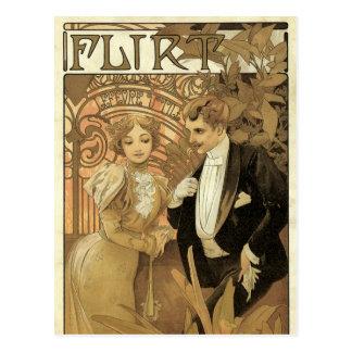 Romance del amor del vintage arte Nouveau Alfons Postal