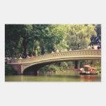 Romance del Central Park - puente del arco - New Rectangular Pegatina