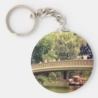 Romance del Central Park - puente del arco - New Y Llavero Redondo Tipo Pin