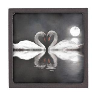 Romance del cisne caja de joyas de calidad